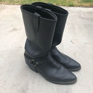 Vintage Leather size 10M Moto Harness boots